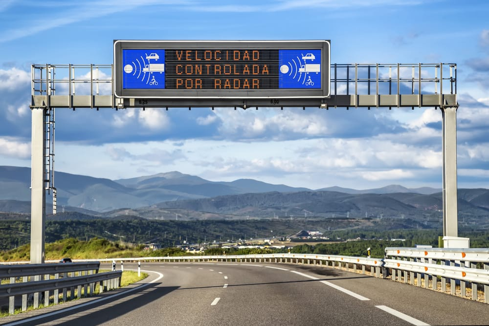 Радар скорости в Испании