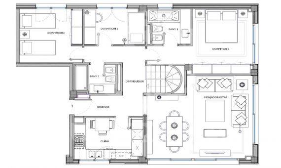 Квартиры от 105 м2 до 130 м2 в Саррия / Сан Джерваси | 1