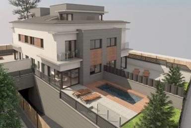 Новое строительство таунхаусов рядом с морем в Кастельдефельсе