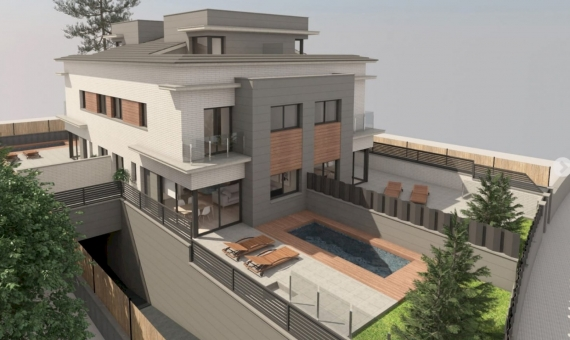 New construction townhouses near the sea in Castelldefels