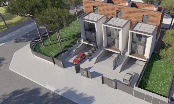 Newly built townhouses near the sea in Gava Mar