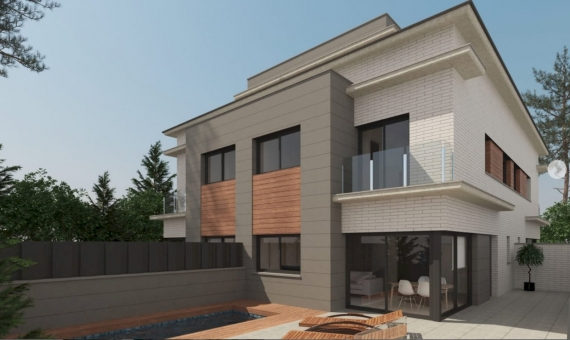 New construction townhouses near the sea in Castelldefels | 1
