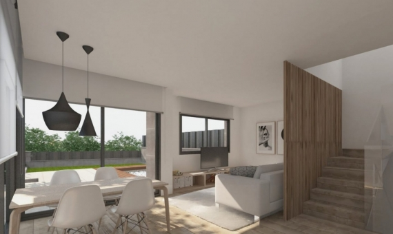 New construction townhouses near the sea in Castelldefels | 2