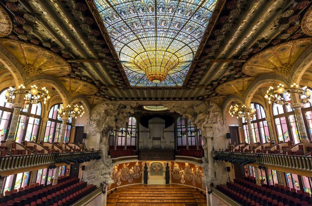 Зал Дворца каталонской музыки