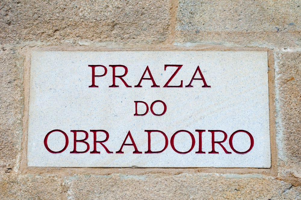El letrero en gallego