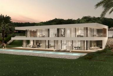 Виллы новой постройки 281 м2 с бассейном и террасами в Бегур