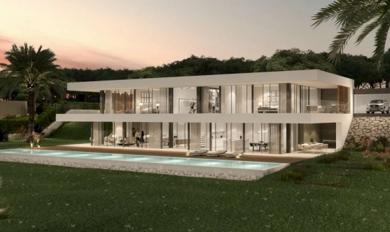 New construction villas 281 m2 with a pool and terraces in Begur