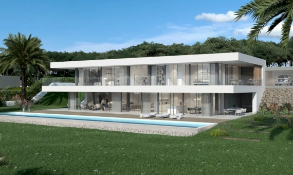 New construction villas 281 m2 with a pool and terraces in Begur | 2