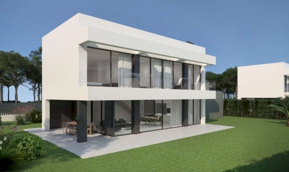 Newly built townhouses with a swimming pool in Begur | 1