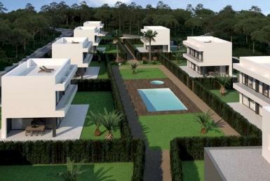 Таунхаусы новой постройки с бассейном в Бегур