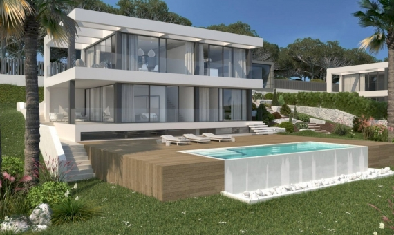 Newly built villas with a plot 1.000 m2 in Begur