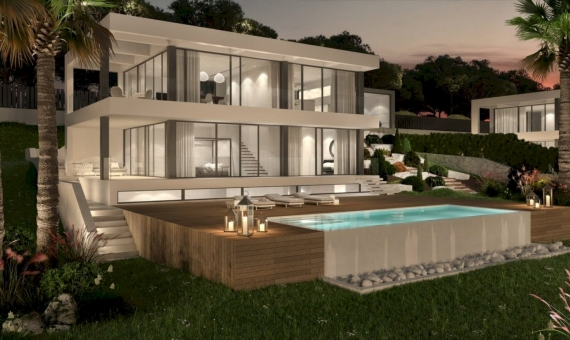 New construction villas 281 m2 with a pool and terraces in Begur | 3