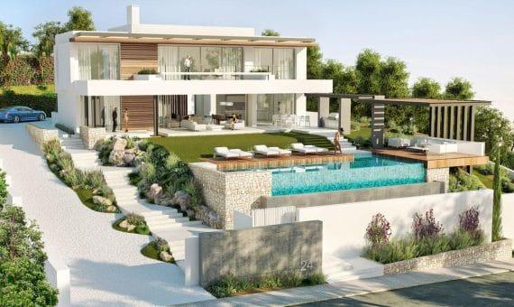 Villa in Benahavis, Marbella, 563 m2, garden, pool, parking -