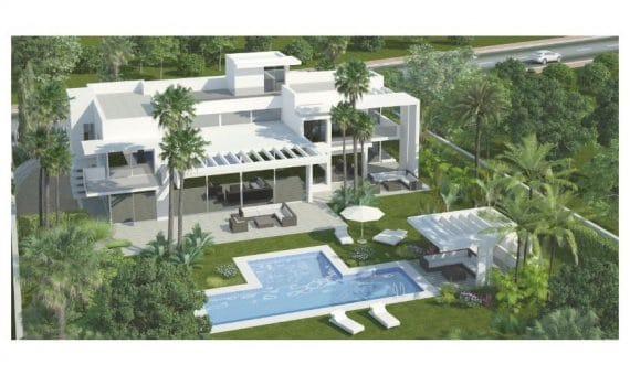 Villa in San Pedro de Alcantara, Marbella, 500 m2, garden, pool, parking -