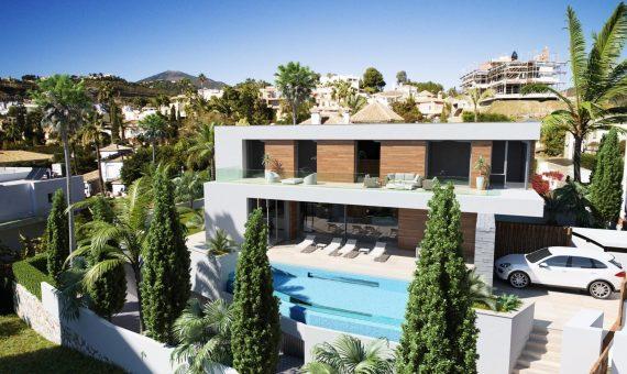 Villa in Benahavis, Marbella, 1146 m2, garden, pool, parking -