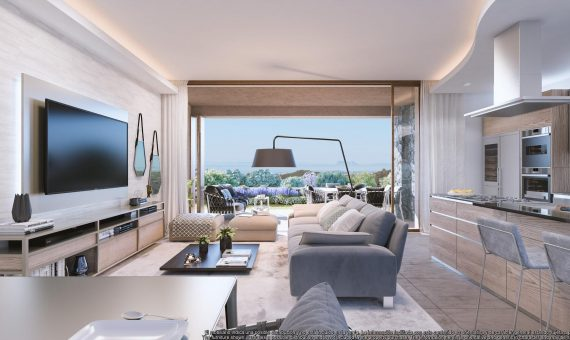 Apartment in Benahavis, Marbella, 136 m2, garden, pool, parking   | 1