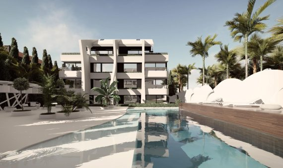 Apartment in Marbella East, 119 m2, garden, pool, parking -