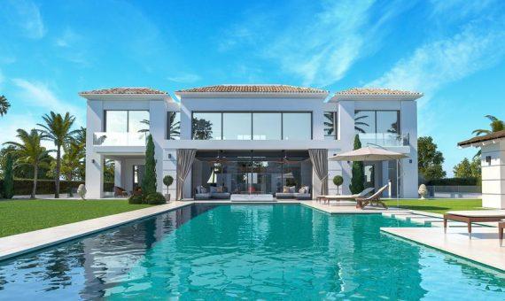 Вилла в Эстепоне, Марбелья, 620 м2, сад, бассейн, парковка -