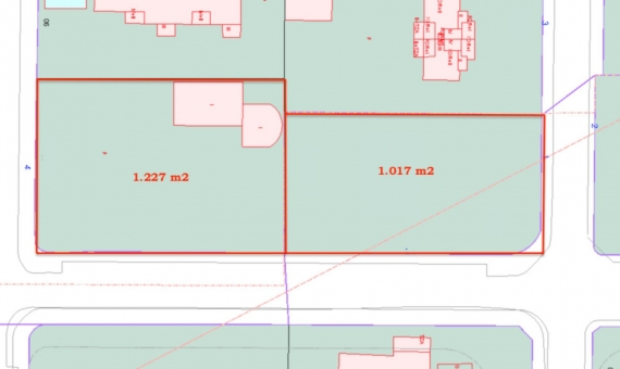 Plots with a total area 2.244 m2 for construction of 2 villas or Aparthotel in Castelldefels | 1
