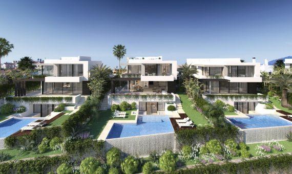 Villa in Estepona, Marbella, 477 m2, garden, pool, parking -