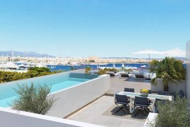 Апартаменты в Пальма-де-Майорка, Майорка, 224 м2, бассейн