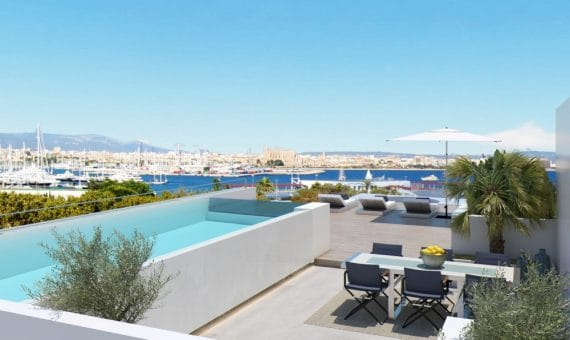 Apartment in Palma, Mallorca, 224 m2, pool -