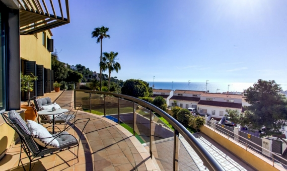 Villa with spectacular sea views in the prestigious area Levantin in Sitges | 2