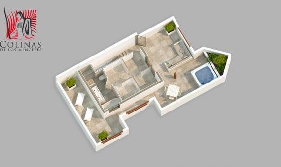 Квартира в Арона,  Пальм-Мар, террасса, гараж   | 2
