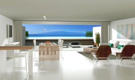 Квартира в Сантъяго-дель-Тейде,  Лос Хигантес, 132 м2, террасса, гараж   | 2