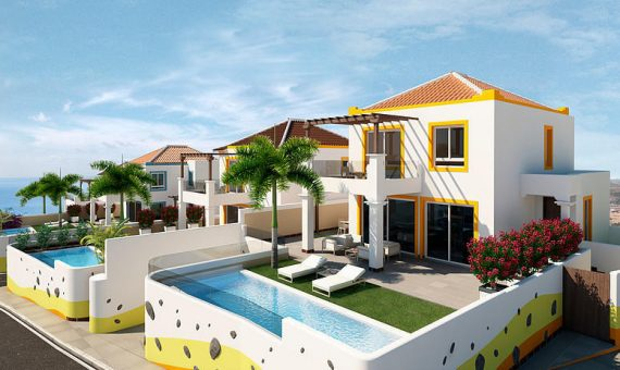 Casa en Adeje,  San Eugenio Alto, 432 m2, jardin, terraza, balcon, garaje, aparcamento, aparcamento   | 4