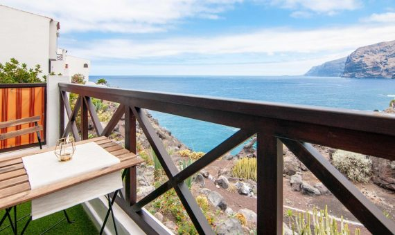 Apartment in Santiago del Teide,  Puerto Santiago, 56 m2, fully furniture, terrace, balcony   | 2