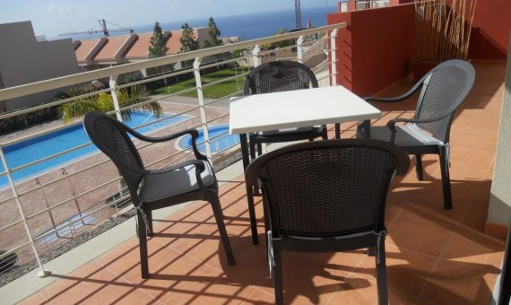 Apartment in Santiago del Teide,  Puerto Santiago, 89 m2, fully furniture, terrace, garage, parking   | 1
