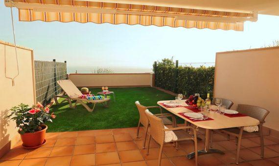Таунхаус в Сантъяго-дель-Тейде,  Плайя-ла-Арена, 171 м2, с мебелью, террасса, гараж   | 2