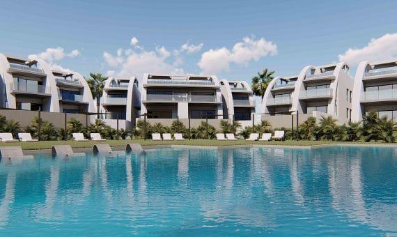 Top floor apartment in Alicante, Rojales, 82 m2, pool -