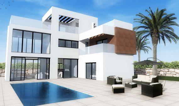 Villa in Alicante, Benidorm, 210 m2, pool -
