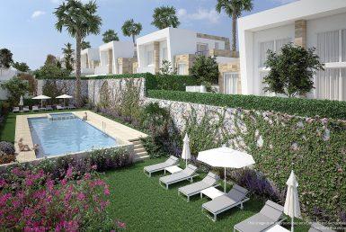 Semi-detached house in Alicante, Algorfa, 98 m2, pool
