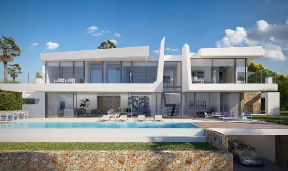 Villa in Alicante, Moraira, 442 m2, pool -