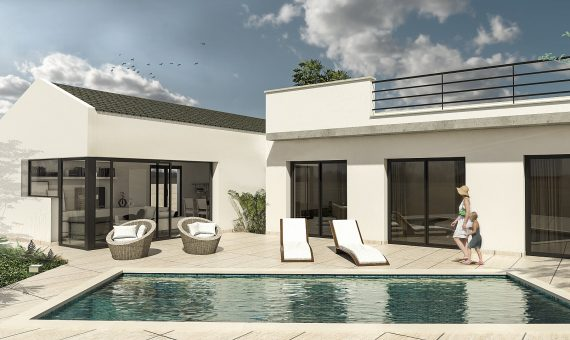 Villa in Alicante, San Fulgencio, 108 m2, pool -