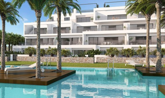 Apartment in Alicante, San Miguel de Salinas, 76 m2, pool -