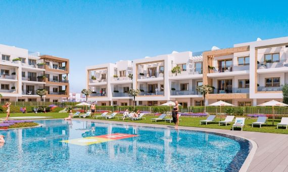 Apartment in Alicante, Orihuela Costa, 89 m2, pool -