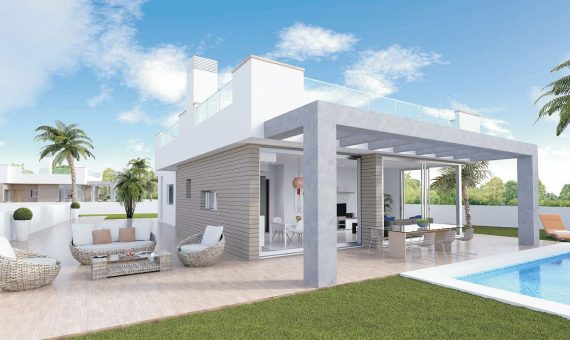 Villa in Murcia, La Manga del Mar Menor, 96 m2, pool -