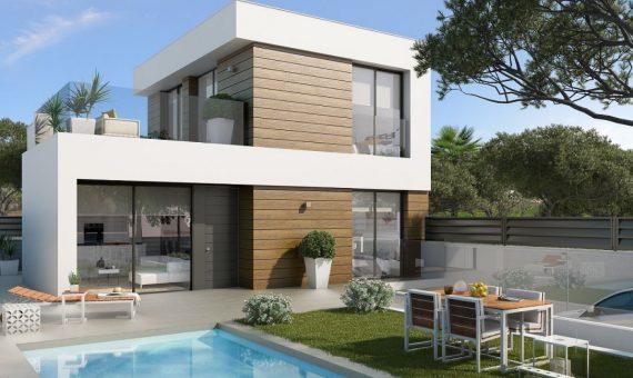 Villa in Alicante, El Campello, 106 m2, pool -