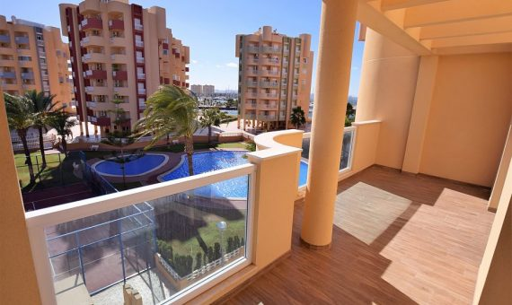 Apartment in Murcia, La Manga del Mar Menor, 70 m2, pool -