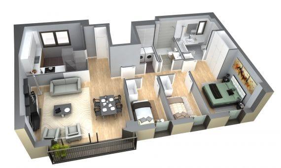 Piso nuevo 62 m2 en Poblenou | 3