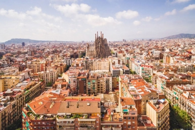 Building with 14 tourist licenses close to Sagrada Familia, Barcelona - shutterstock_703688107