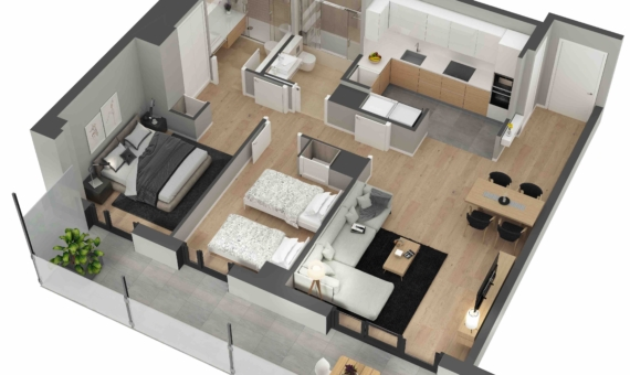 New flats close to the sea in Poblenou area of Barcelona | 2