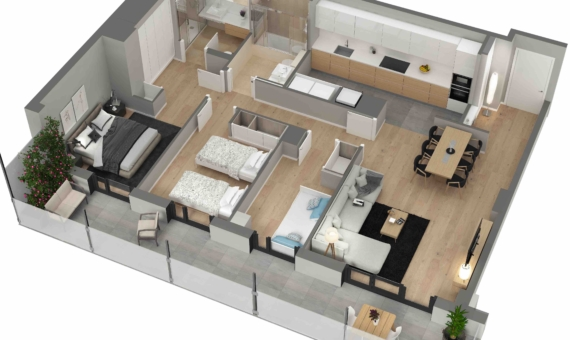 New flats close to the sea in Poblenou area of Barcelona | 4