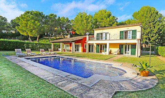 Villa in Costa de la Calma, Mallorca, garden, pool,    | 2