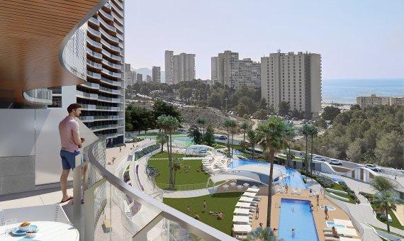 Piso en Alicante, Benidorm, 84 m2, piscina   | 2