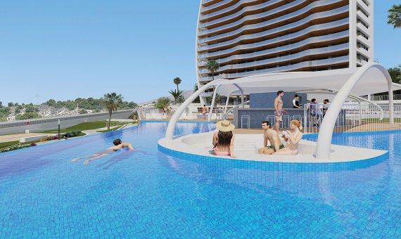 Piso en Alicante, Benidorm, 109 m2, piscina   | 13